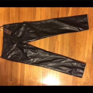 Gucci NEW Leather Pants AUTHENTIC